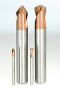 Solid carbide drills for centering and chamfering Added the point angle of Leading drill series DLE