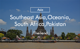 Southeast Asia, Oceania, South Africa, Pakistan