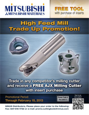 AJX High Feed Milling trade up promotion